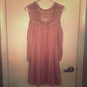 AUW party dress in dusty rose color. Sz Large